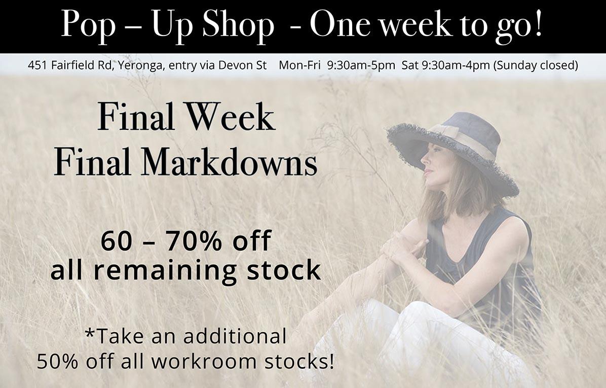 Final Week Markdowns